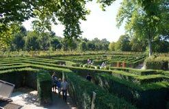 Härligt parkera labyrinten i Schoenbrunn, Wien Royaltyfri Fotografi