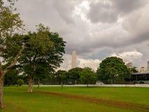Härligt parkera lokaliserat på staden av São Paulo, Brasilien arkivbild