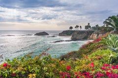 Härligt parkera på Laguna Beach Fotografering för Bildbyråer