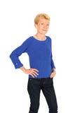 härligt posera för affärskvinna Royaltyfri Foto