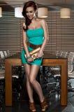 härligt posera för flickaglamour Arkivfoton