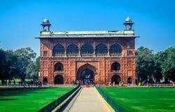 Härligt rött fort av Delhi Royaltyfri Fotografi