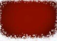 Härligt rött julbakgrundsbegrepp Arkivbilder