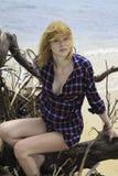 härligt redheadbarn Royaltyfria Bilder