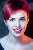 härligt redheadkvinnabarn Fotografering för Bildbyråer