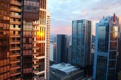 Härligt refiexljus från min balkong Royaltyfria Bilder