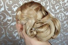 Retro hår utformar arkivfoto