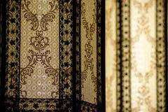 Härligt retro lyxigt ljust glöda för lampdekor Royaltyfri Bild