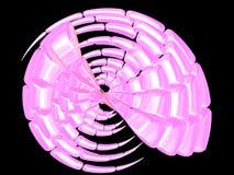 härligt rosa skal royaltyfri illustrationer