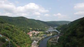 Härligt Rumänien landskap stock video