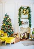 Härligt rum för julbarn` s Royaltyfria Foton