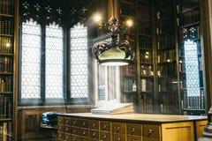 Härligt rum i det John Rylands arkivet royaltyfria bilder