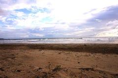 Härligt scenary av stranden royaltyfria foton