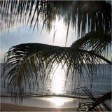 Härligt scenary för strandsida Arkivfoto