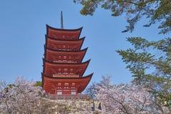 Härligt sceniskt av Senjokaku och denstoried pagoden Royaltyfria Foton