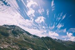 härligt sceniskt berglandskap i indiska Himalayas, Rohtang royaltyfri bild
