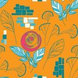 Härligt seamless blom- mönstrar Arkivfoto