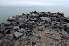 Härligt sjösidaAzov hav Arkivfoto