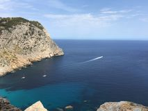 Härligt sjösidalandskap för bästa sikt Royaltyfri Bild