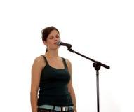 härligt sjunga för flicka Royaltyfri Bild