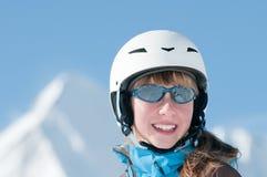 härligt skierbarn Royaltyfria Bilder