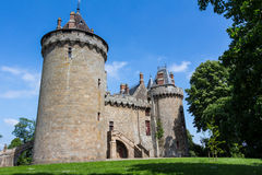 härligt slott Arkivbild