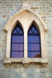 Härligt slottfönster Arkivfoton