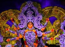 Härligt slut upp skott av gudinnan Durga Idol arkivbilder