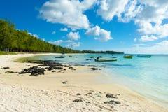 Härligt sommarlandskap av den tropiska kusten Fotografering för Bildbyråer