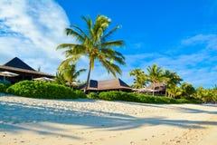 Härligt sommarlandskap av den tropiska kusten Arkivfoto