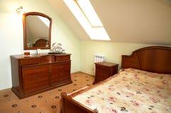 härligt sovrum arkivbilder