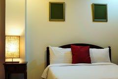 härligt sovrum fotografering för bildbyråer
