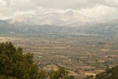 härligt ställe för naturbergLassithi platå Arkivfoton