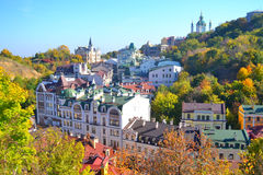 Härligt stadlandskap, Kiev, Ukraina Royaltyfria Foton