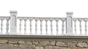 Härligt staket på vit Royaltyfria Bilder