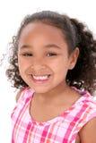 härligt stort flickaleendebarn Royaltyfria Bilder