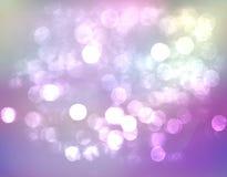 HÄRLIGT SUDDIGT för lilablått för BOKEH färgrikt abstrakt begrepp Arkivfoton