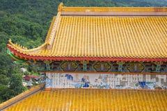 Härligt tak av den Kek Lok Si templet i Penang, Malaysia royaltyfri foto