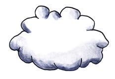Härligt tecknad filmvattenfärgmoln stock illustrationer
