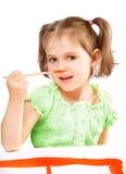 härligt tecknar flickan arkivbilder