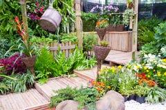 härligt trädgårds- litet Royaltyfria Foton