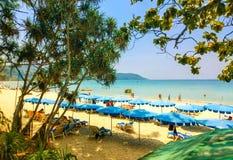 Härligt tropiskt landskap i Tailand royaltyfri bild