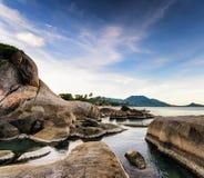 Härligt tropiskt landskap. Samui ö, Thailand royaltyfri bild