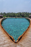 Härligt tropiskt Maldiverna semesterorthotell royaltyfria bilder