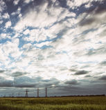 Härligt ukrainskt landskap Arkivfoton