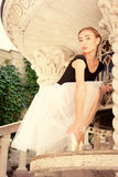 Härligt ungt repetera för ballerina Fotografering för Bildbyråer