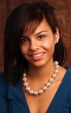 härligt vänt mot nytt latina kvinnabarn Royaltyfri Foto