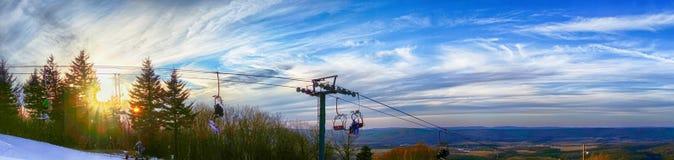 Härligt vinterlandskap på timberline West Virginia Arkivbilder