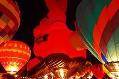 Häschen-Ballon am Glühen Stockfotografie