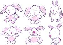 Häschen-Kaninchen-Set Stockbilder